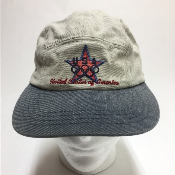 Rare vintage 5 panel USA Olympic Starter dad hat. M 5a54df3d6bf5a6cbbc0502a0 0226299c4ae